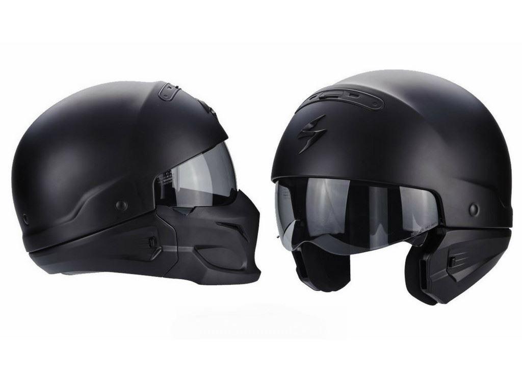 capacete scorpion exo combat um capacete com 3 estilos motonews andar de moto. Black Bedroom Furniture Sets. Home Design Ideas