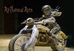 Moto Arte com relógios antigos