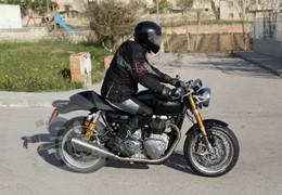 Nova café racer de 1100cc da Triumph apanhada em Barcelona