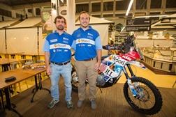 David Megre e Luís Portela de Morais de KTM Rally no Dakar 2017