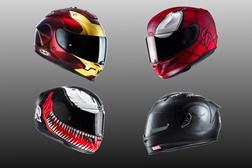 Capacetes de motociclismo HJC Marvel - transforma-te no teu herói favorito