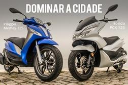 Comparativo Honda PCX 125 vs Piaggio Medley 125 - Dominar a Cidade