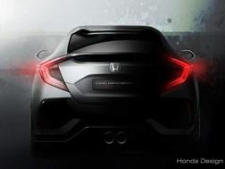Protótipo do Civic Hatchback em estreia mundial no Salão Automóvel de Genebra de 2016