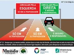 """Campanha """"Circule pela direita nas Estradas de Portugal"""""""