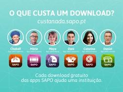 Downloads gratuitos de apps móveis do SAPO dão donativos a instituições sociais em outubro