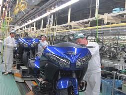 Produção do modelo Goldwing 2015 na fábrica de Kumamoto