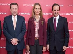 António Belo, administrador-delegado da MAPFRE; Infanta Elena Borbón; Fernando Medina, presidente da câmara de Lisboa