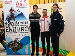 Mário Patrão e Paulo Gonçalves com Luís Correia na apresentação oficial do evento