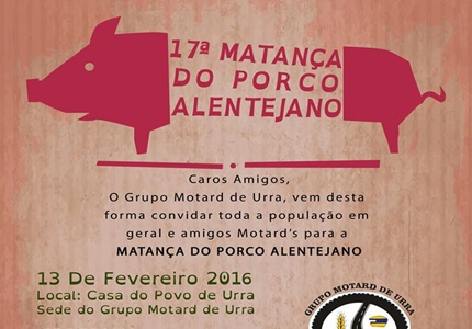 17ª Matança do Porco Alentejano do Grupo Motard de Urra
