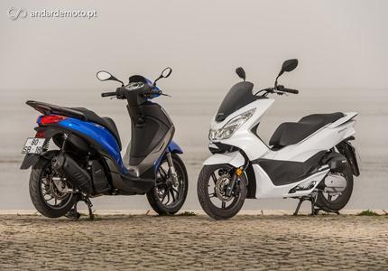 Comparativo Honda PCX 125 vs Piaggio Medley 125