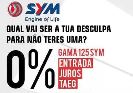 Campanha SYM 0% Juros Gama 125cc
