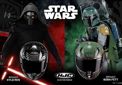 Capacetes HJC Star Wars com base no topo de gama RPHA 11