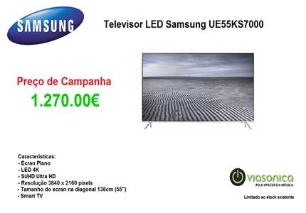 UE55KS7000 Promoção de Televisores - Televisor Samsung