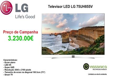 75UH855V Promoção Televisores - Televisor LG