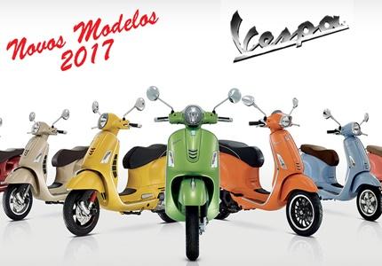 Modelos Vespa 2017 já disponíveis