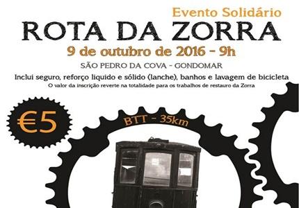 Rota da Zorra - Evento Solidário - Inscrições abertas