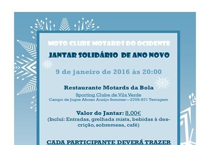Jantar Solidário de Ano Novo - Vamos ajudar a Fundação Gil!