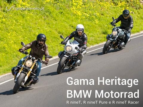 Teste Gama Heritage BMW Motorrad - RnineT, RnineT Pure e RnineT Racer