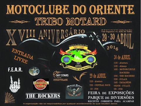 Festa do 18º aniversário do Moto Clube do Oriente - Tribomotard