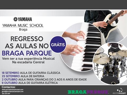 Aulas de Música gratuitas marcam mês de regresso às aulas no Braga Parque