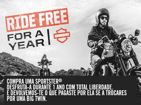 HARLEY-DAVIDSON SPORTSTER® - Ride Free For a Year