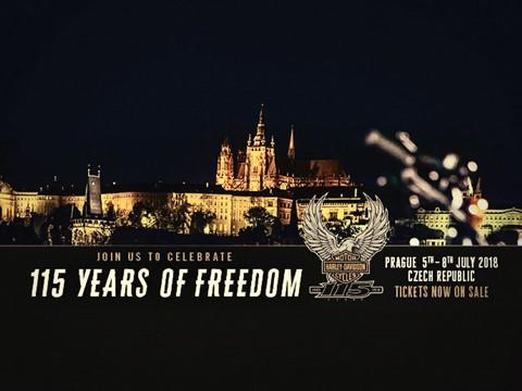 Andar de Moto: Harley-Davidson celebra 115º Aniversário em Praga