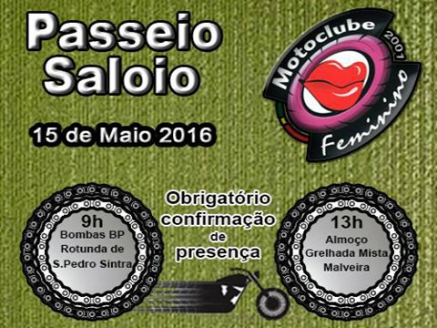 Passeio do Moto Clube Feminino - Zona Saloia