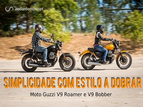 Teste Moto Guzzi V9 Roamer e V9 Bobber - Simplicidade com estilo a dobrar