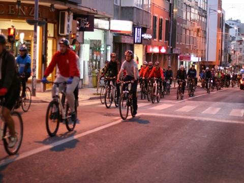 Prova da Castanha 2015 - Passeio de bicicleta nocturno na Amadora