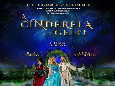 """A Cinderela no Gelo"": A história de encantar deste Natal no Alegro Alfragide"