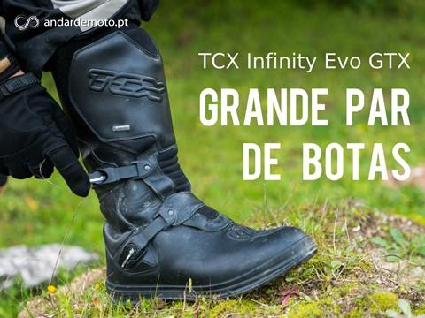 Teste botas de motociclismo TCX Infinity Evo GTX Gore-tex