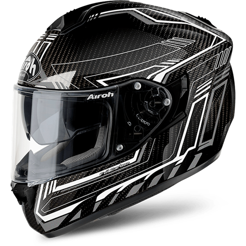 AIROH ST701 SAFETY FULL CARBON Branco