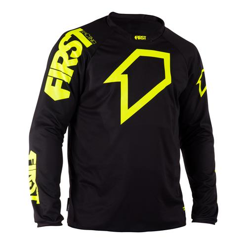 FIRST RACING Camisola SCAN Preto/Neon 2018 FIRST