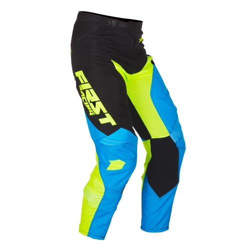 FIRST RACING Calça DATA Azul/Neon 2018
