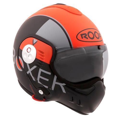 ROOF Capacete BOXER-V8 GRAFIC laranja/p.mate