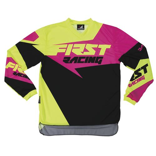 FIRST RACING Camisola DATA NEON/Rosa 2017