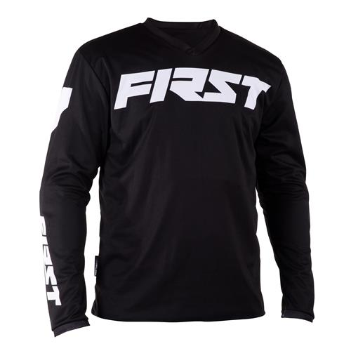 FIRST RACING Camisola Criança DATA Preto 2018