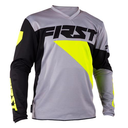 FIRST RACING Camisola DATA Cinza/Neon 2018