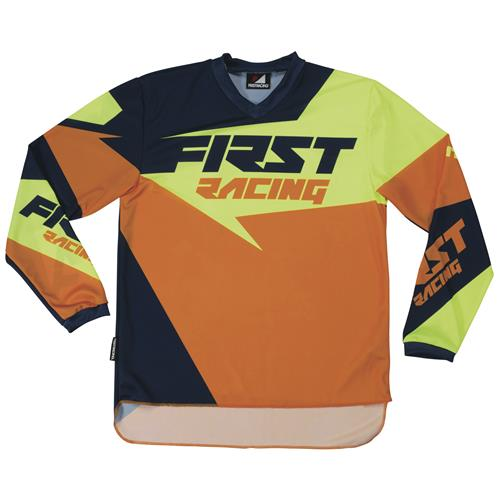 FIRST RACING Camisola DATA Laranja 2017