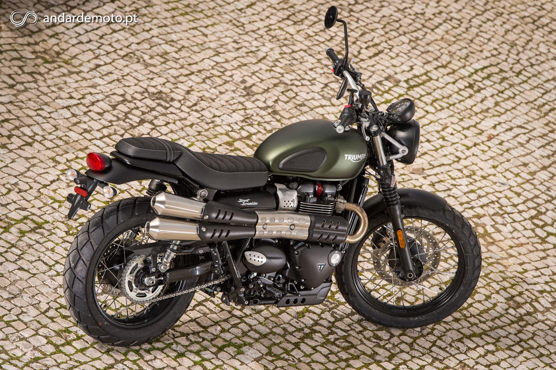 A Familia De Classicas De 900cc Da Triumph Aumentou Com A Street Scrambler Motonews Andar De Moto Brasil