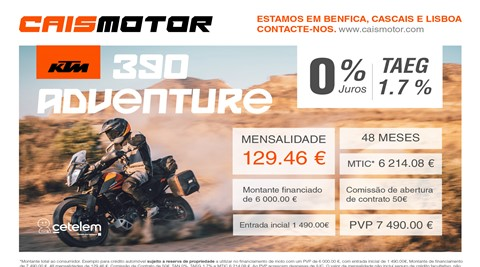 Financiamento KTM 390 Adventure