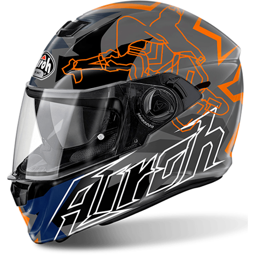 AIROH Capacete STORM BIONIKLE Gloss
