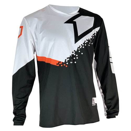 FIRST RACING Camisola DIRT Preto/Branco/Laranja 2020