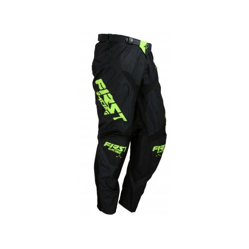 FIRST RACING Calça DATA EVO Preto/Neon 2019