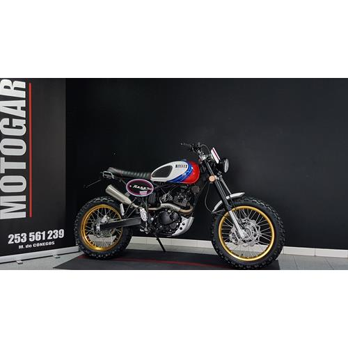 Bullit Hero 125 Scrambler Branco Racing