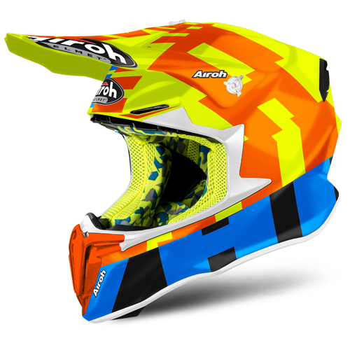 AIROH Capacete TWIST 2.0 FRAME Amarelo Gloss 2020