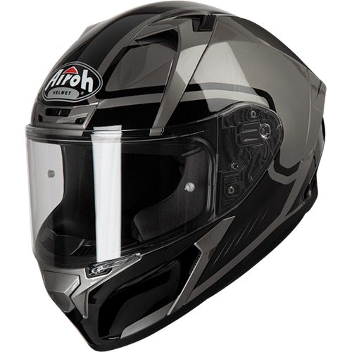 Capacete VALOR MARSHALL Cinza Gloss AIROH 2019
