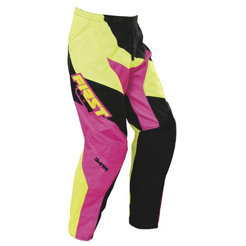 FIRST RACING Calça DATA NEON/Rosa 2017