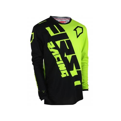 FIRST RACING Camisola DATA EVO MID Preto/Neon 2019
