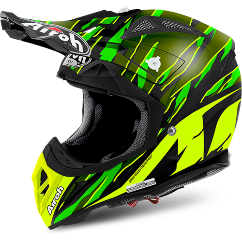 AIROH Capacete AVIATOR 2.2 THREAT Verde Matt